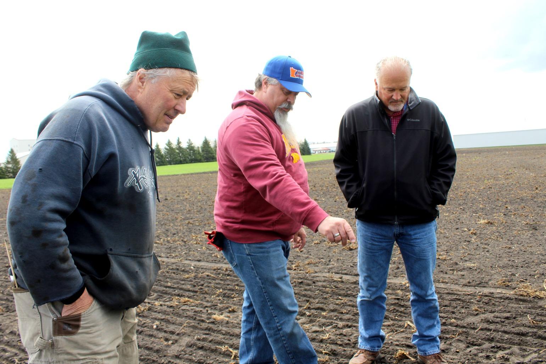 Mike, Joe, Tim in the Field
